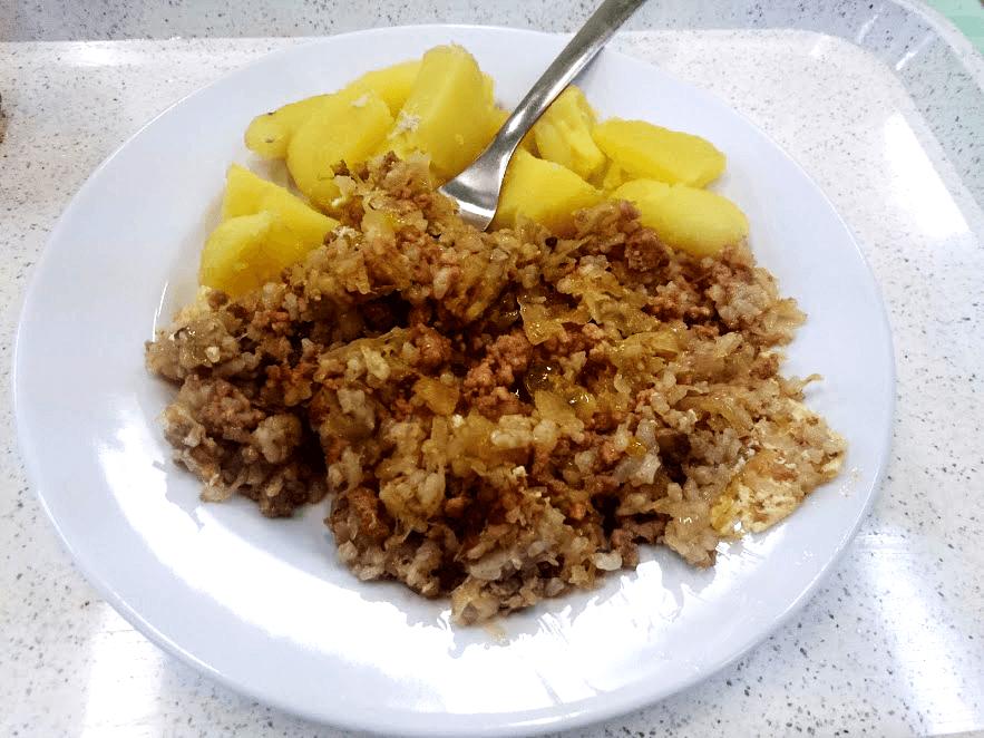 Grc so zemiakmi, jedlo na internáte, zintraku